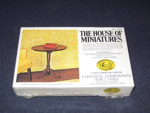 The House Of Miniatures - Queen Anne Tilt-Top Table / Circa 1725-1760 - Doll House Furniture #40008 - 1