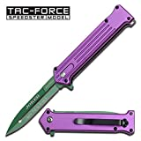 Purple and Green Joker Tac Force Fantasy Assisted Opening Folding Knife (Joker: Why so Serious)