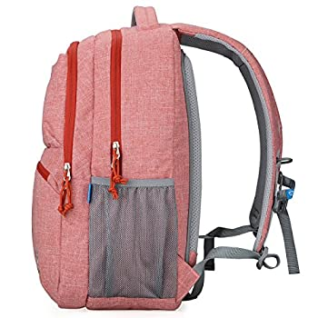 Bolang Fashionable Lightweight Water Resistant Nylon Backpack School Bag Super Cute Stripe School College Laptop Bag for Teens Girls Boys Students 8459 2