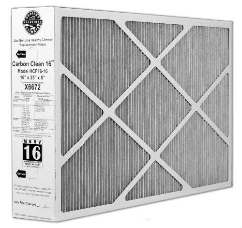 X6672 Lennox Healthy Climate 16x25x5 Merv 16 Filter