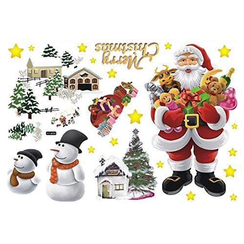 vktech 174 removable merry christmas santa claus home decor