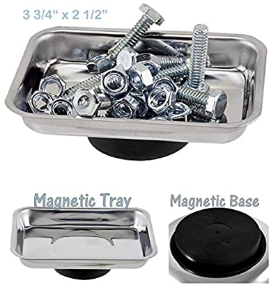 Magnetic Small Parts Tray Plate Screw Storage Nuts Screw Bolts Accessory