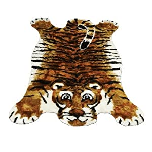 "Tiger Kids Rug Size: 2'3"" x 3'8"" by Walk On Me"