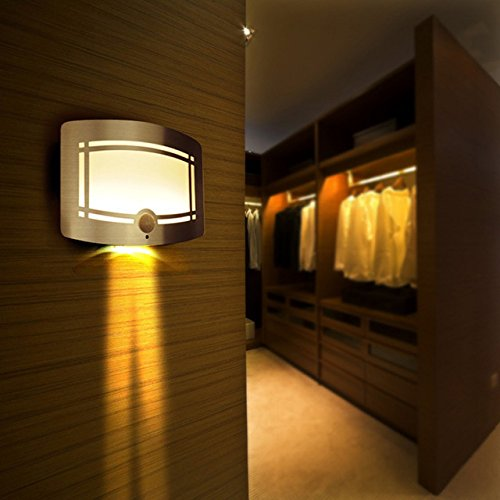 2016 Wireless Infrared Motion Sensor Wall LED Night Light Novelty Battery Powered Porch Night Lamp Motion Sensor Light For Home (Skechers Power Switch compare prices)