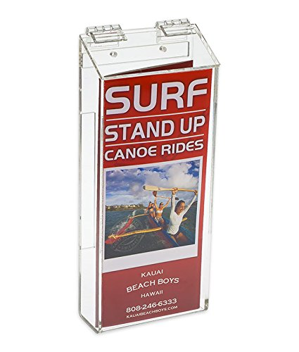 Source One Outdoor Brochure Holder 4 x 9 x 2 Inches Clear Acrylic Wall Mounting Literature Dispenser (S1-TRI-OUTD.) (Pamphlet Dispenser compare prices)