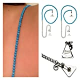 Strap N' Guard Women's Turquoise Stone Beads Pin Straps for Bra and Clothing