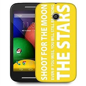 Snoogg Shoot For The Stars 2800 Designer Protective Phone Back Case Cover For Motorola E / Moto E
