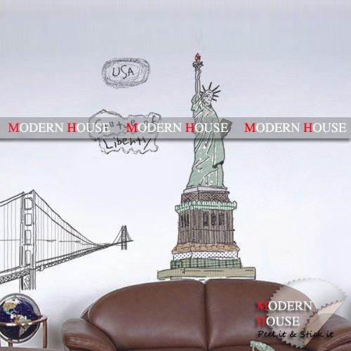 Liberty removable Vinyl Mural Art Wall Sticker Decal