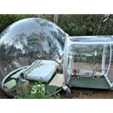 Outdoor Single Tunnel Inflatable Bubble Tent Family Camping Backyard Transparent