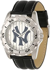 Game Time Mens MLB-WWG-NY3 New York Yankees Analog Strap Watch and Wallet Set by Game Time