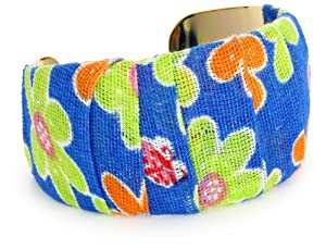 "Nugaard ""Alegria"" Flat Curved Cuff Wrapped with ""Maria"" Fabric"