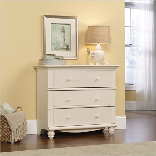 Sauder Harbor View 3-Drawer Chest Antique White front-737340