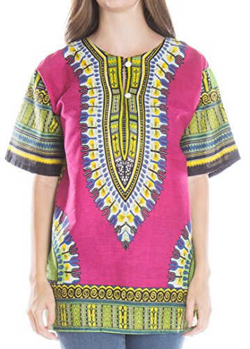 ragstock-womens-traditional-african-print-dashiki-fuchsia-large