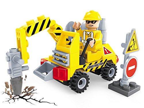FunBlox Fun Blox Engineering Construction Collection Truck Blocks, Multi Color