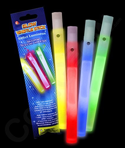 Fun Central X550 Glow In The Dark Whistles 6 Inch - Assorted
