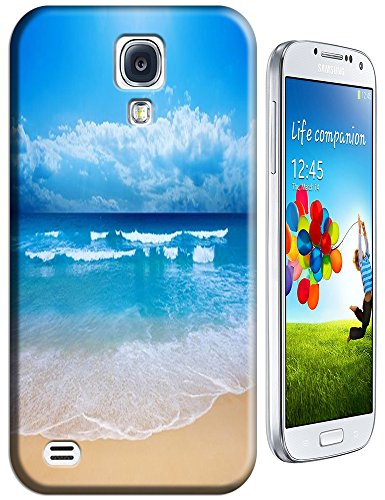 Cell Phone Case Beach Design Beautiful Sunshine Water Trees For Samsung Galaxy S4 I9500 No.1 front-100059