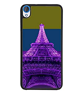 PrintDhaba Tower D-4916 Back Case Cover for HTC DESIRE 820 (Multi-Coloured)