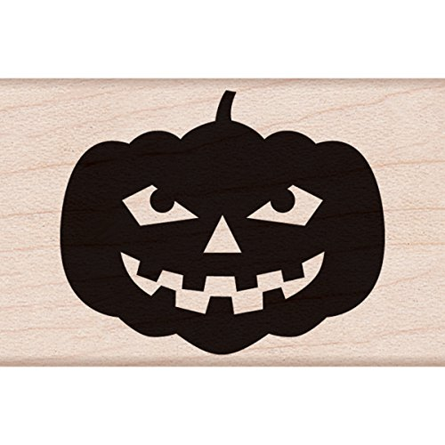 "Hero Arts Smiling Jack 'o Lantern Mounted Rubber Stamp, 2"" by 2"""