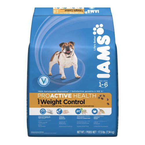 Iams Proactive Health Weight Control for Adult Dog , 17.5-Pound Bags