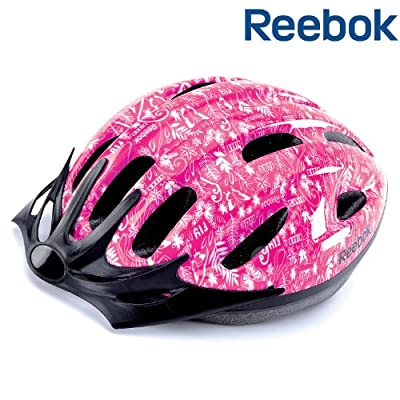 Reebok Junior Biking Helmet Girls Pink - 50-54cm 11 Air Vents from RFE International