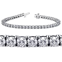 4.00 CT TW 4 Prong Round Diamond Tennis Bracelet in 14k White Gold (F-G-color/VS2-SI1-clarity) from V.I.P. Jewelry Inc.