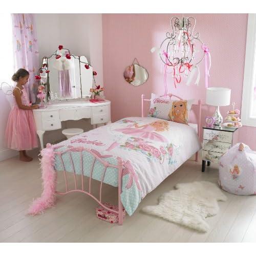 Barbie Ballerina Pink Single Bed Duvet Cover Quilt Set
