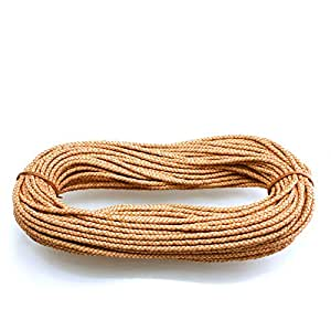 Amazon.com: 5mm Natural Leather Cord Braided Bolo - 1 Yard or 36
