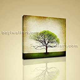 Gallery Wrapped Canvas Print Contemporary Abstract Tree Floral Wall Art Decor Wall Art Inner Framed Ready To Hang BoYi 20\