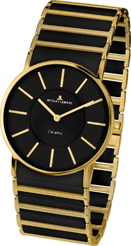 Jacques Lemans Women's 1-1649D York Classic Analog with HighTech Ceramic and Sapphire Glass Watch