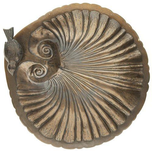 Cheap Achla BBC16 Bronze Ceramic Shell Bird Bath and Stake Set (BBC-16)
