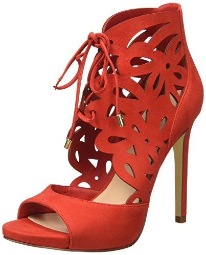 Guess Lea03, Sandali con lace alla caviglia, Donna, Rosso, 35