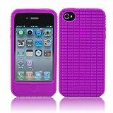 splash RaveSkin Rubberized Case for iPhone 4 AT&T and Verizon (PURPLE)