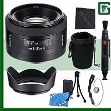 Sony 50mm f14 Alpha A-Mount Standard Prime Lens Green39s Camera Bundle 19
