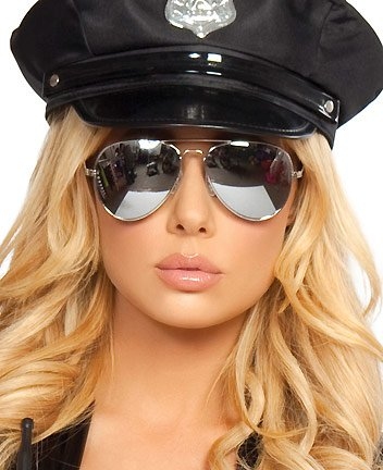 Roma Costumes Police Glasses Adult