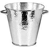 ED3478 Edzard - Calo - Secchiello per il vino - Secchiello per bottiglie - Martellato - Placcato in argento ca. 21 cm