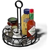 Spectrum 95210 Twist Condiment Stand, Black