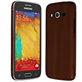 Skinomi® TechSkin - Samsung Galaxy Avant Screen Protector + Dark Wood Full Body Skin Protector / Front & Back Premium HD Clear Film / Ultra High Definition Invisible and Anti-Bubble Crystal Shield with Free Lifetime Replacement Warranty - Retail Packaging