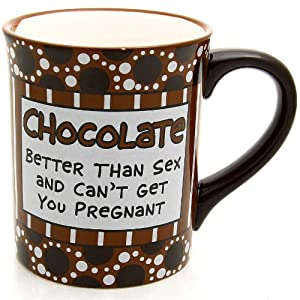 Our Name Is Mud by Lorrie Veasey Chocolate Pregnant Mug, 5.375-Inch