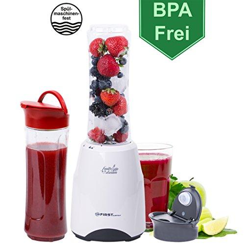 300 Watt Smoothie Maker - BPA Frei und Spülmaschinenfeste Behälter - Standmixer,...