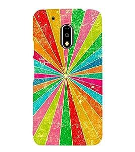 MULTICOLOURED PRISM RAYS PATTERN 3D Hard Polycarbonate Designer Back Case Cover for Motorola Moto G4 :: Motorola Moto G (4 th Gen)