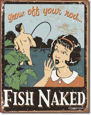 Tin Sign : Schonberg - Fish Naked Tin Sign :