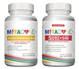 Mitadone Alcohol Withdrawal Aid and 5+5 Detox Combo (150 Count ). May Help Cut back or Quit Multi Vitamin Support.