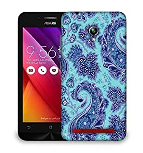 Snoogg Paisley Print Blue Designer Protective Back Case Cover For Asus Zenfone 6