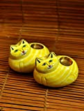 The India Craft House 2-Cat-set-of-Candle stand (H-4