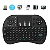 2018 New Minidi i8 2.4GHz Mini Wireless Keyboard with Touchpad Mouse, Handheld Remote, Pi 2/3, KODI Android TV Box, HTPC/IPTV, Windows 7 8 10