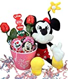 Mother's Day Gift Basket with Minnie Mouse Plush and Assorted Chocolate Candy