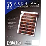 Print FIle 35-7B25 for 35mm Film Negatives 7 Strips 25 Pack