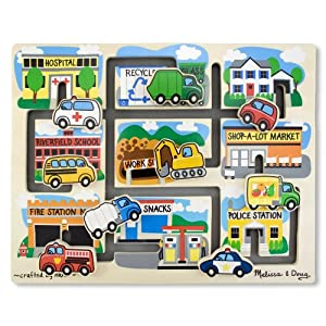Amazon.com: Melissa & Doug Deluxe Wooden Vehicles Maze Puzzle: Toys & Games