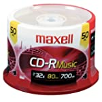 Maxell CDR80M Recordable CD for Audio...