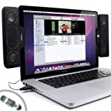 Gogroove SideStream Powerful Clip-On Stereo Speakers for Apple Mac , Macboo ....